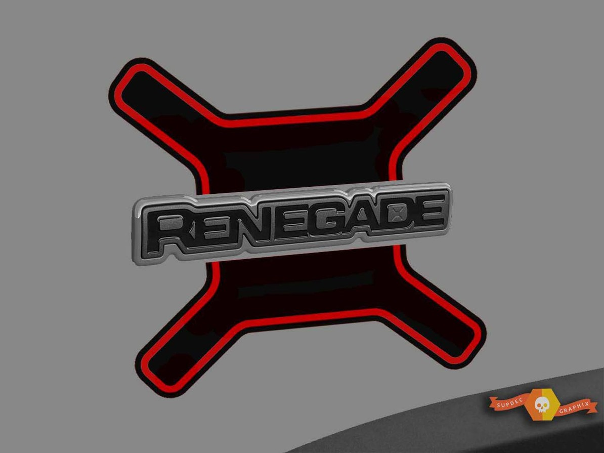 2015-2019 Jeep Renegade Vinyl Seitenaufkleber Aufkleber Grafikstreifen