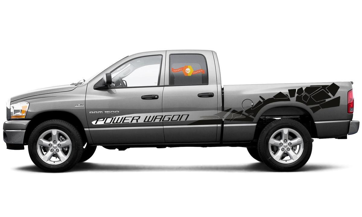Dodge RAM Power Wagon ist der brandneue Grafikstreifen für die Abziehbilder von 2019