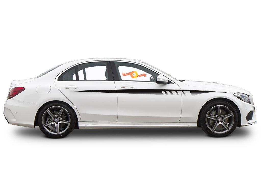2 Mercedes-Benz C Class W205 AMG sports stripes Decal Graphics