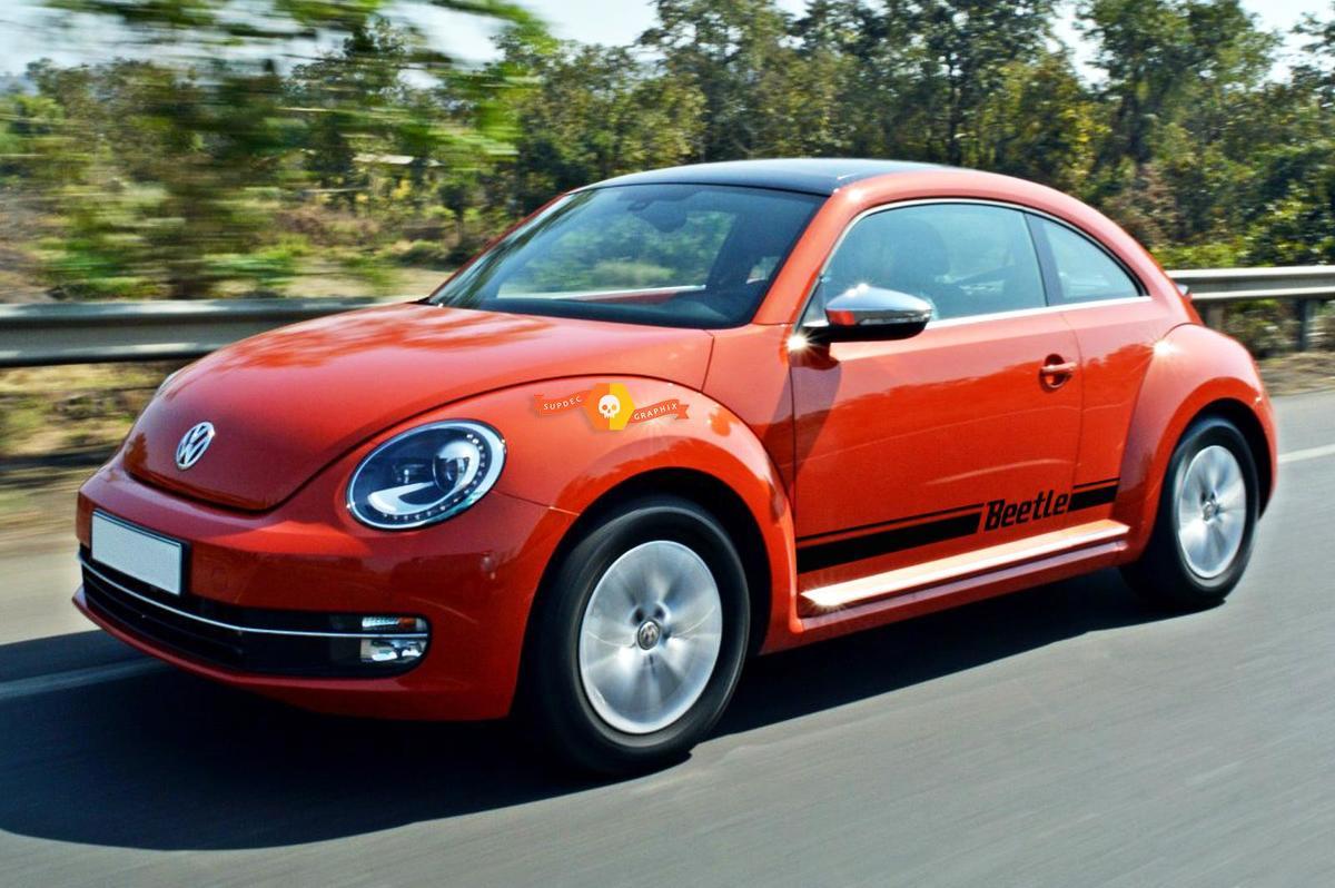 Volkswagen Beetle 2011-2018 rocker Stripe Stripes Graphics Decals