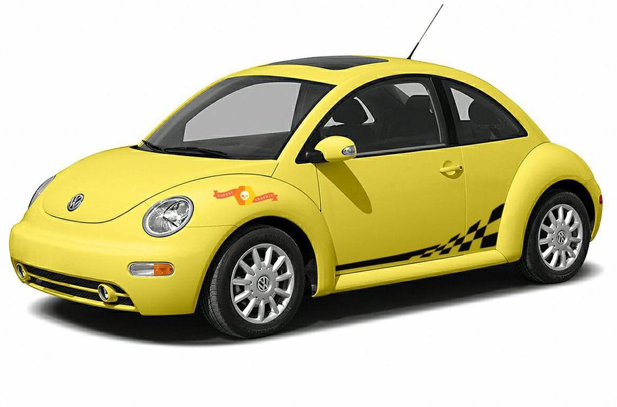 Volkswagen New Beetle 1998-2011 Zielflagge Seitengrafik Aufkleber Porsche Stil