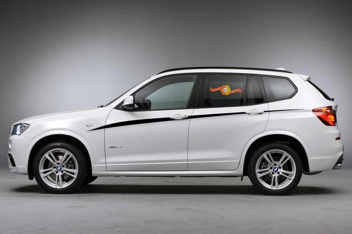 BMW X3 M F25 M Performance accent stripes Side Stripe Graphics decals