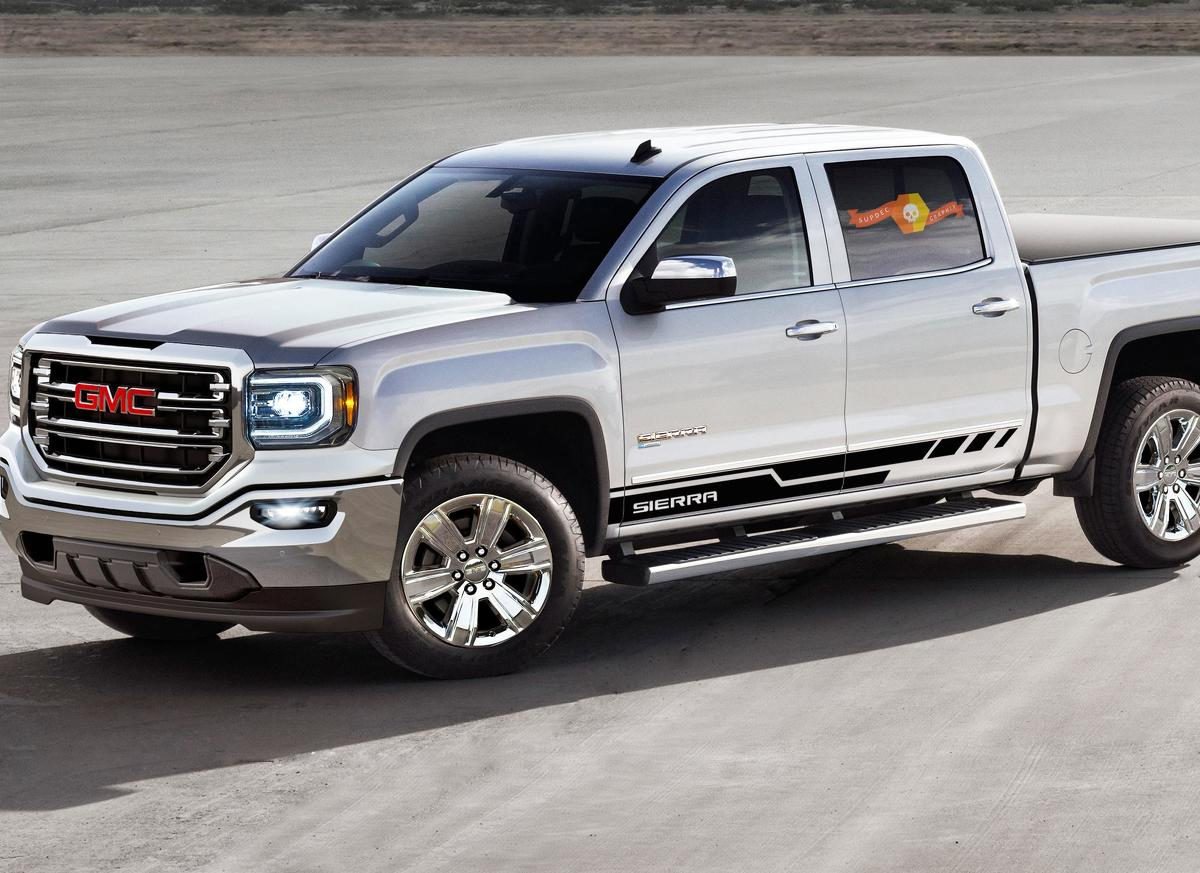 Side stripes decal for GMC Sierra door panel graphics model 7