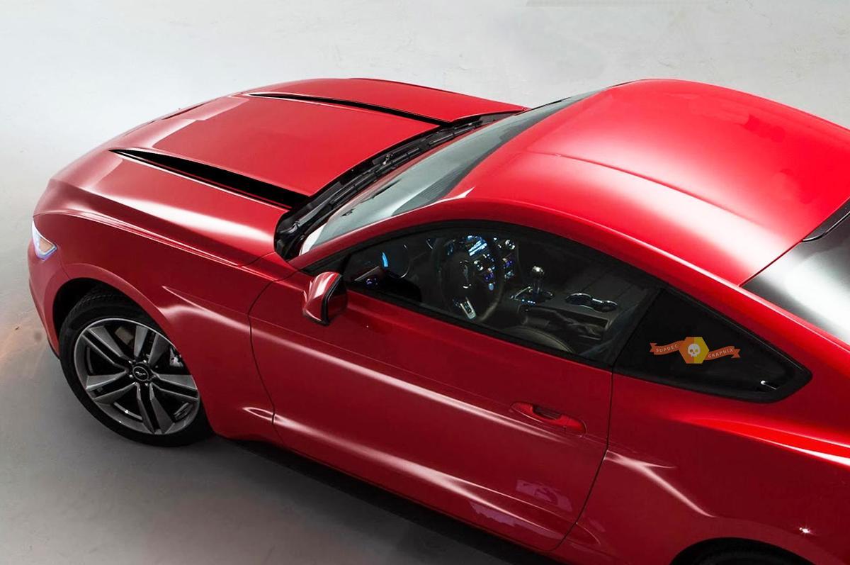 Ford Mustang 2015 2020 Hood Spears Seite Blackout Stripes Decals Grafiken
