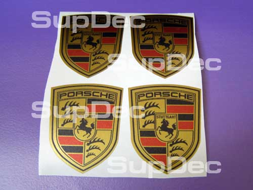 Porsche GOLD 4 decals