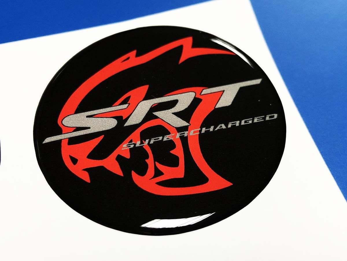 Hellcat Supercharged Fuel Door Insert Emblem Kuppel Aufkleber für Challenger
