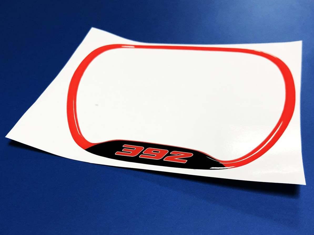 Lenkradverkleidungsring 392 Roter Emblem-Kuppelaufkleber Challenger Charger