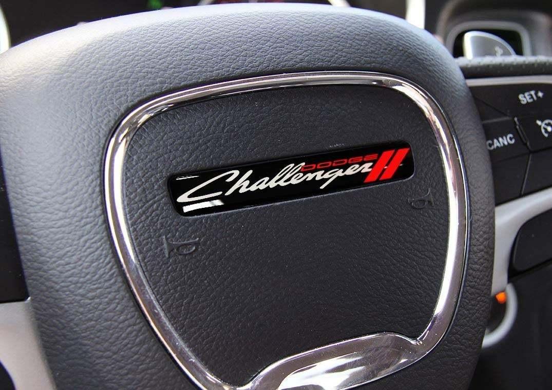 Ein Lenkrad Challenger alten Stil Emblem Kuppel Aufkleber