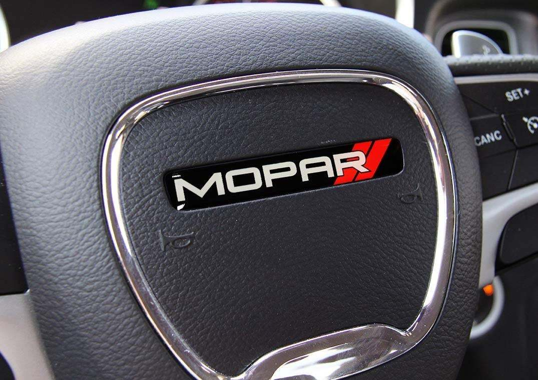 Product One Steering Wheel Emblem Domed Decal Challenger Charger Mopar Dodge