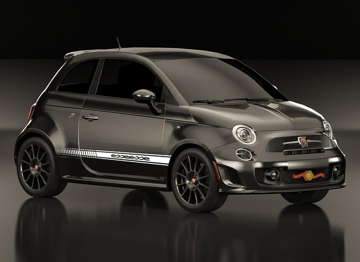Fiat 500 ABARTH esseesse Decal side Graphics stripes 1