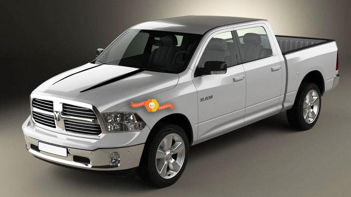 2009-2019 Dodge RAM Hood Spears Graphic Decals Stickers
