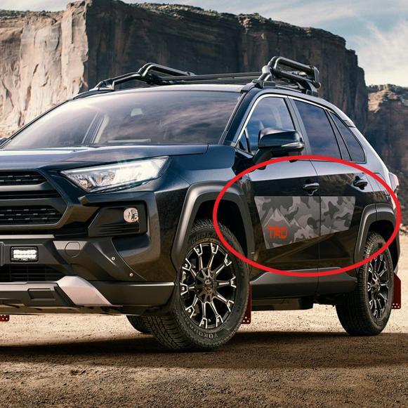 Pair of NEW TRD style RAV4 2019 2020 Toyota decal Camo Mountains