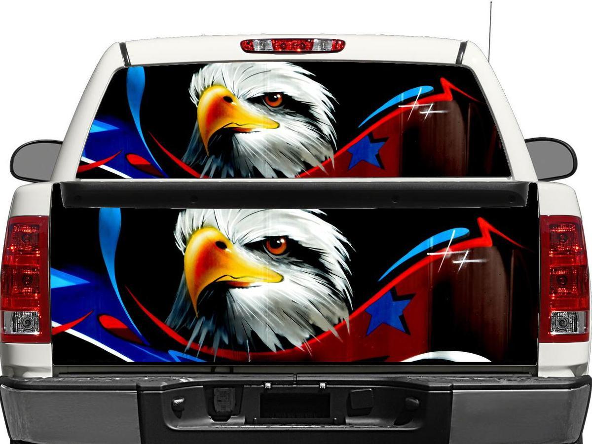 USA Adler Flagge US Heckscheibe ODER Heckklappe Aufkleber Aufkleber Pick-up Truck SUV Auto