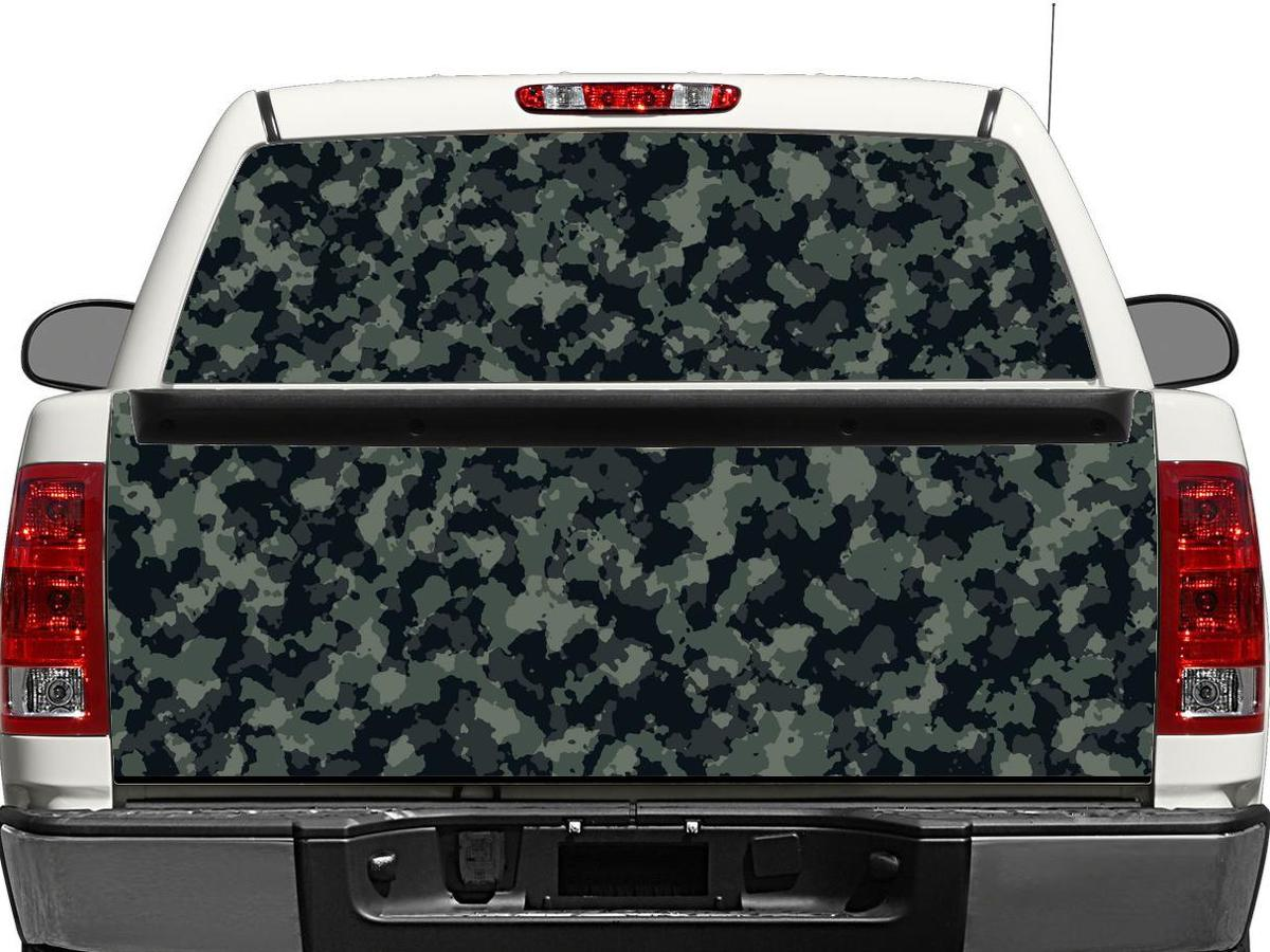 Camo Camouflage Rear Window OR tailgate Decal Sticker Pick-up Truck SUV Car