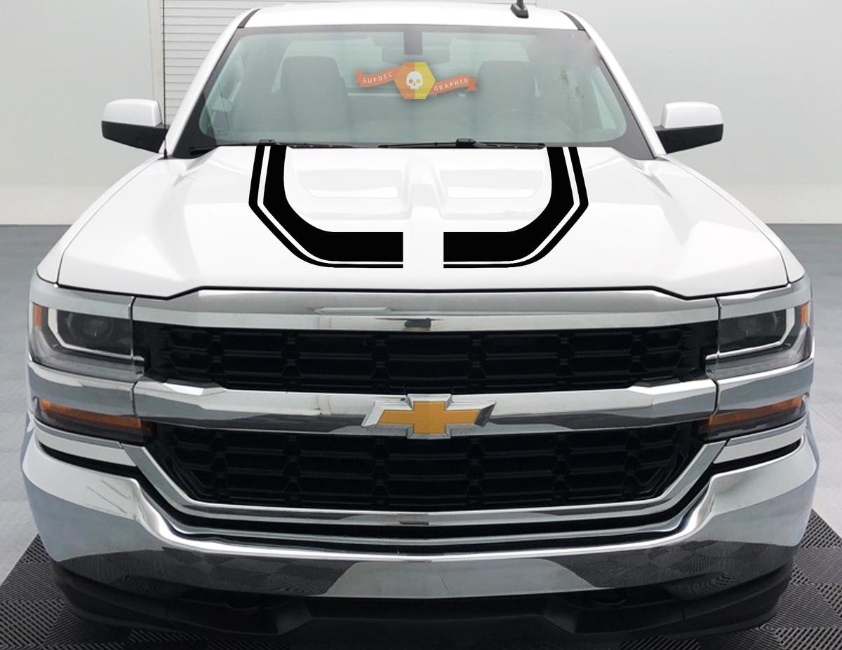 2016 - 2018 Rally Edition Style Z71 Chevrolet Silverado HOOD GRAPHIC