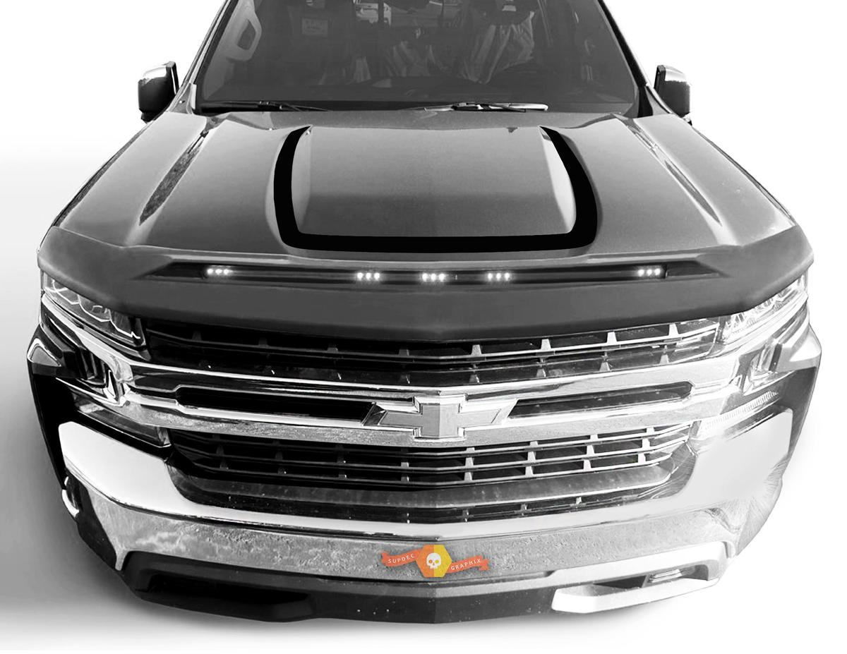 2019-2020 Chevrolet Silverado Hood Decal Outline Trail Boss