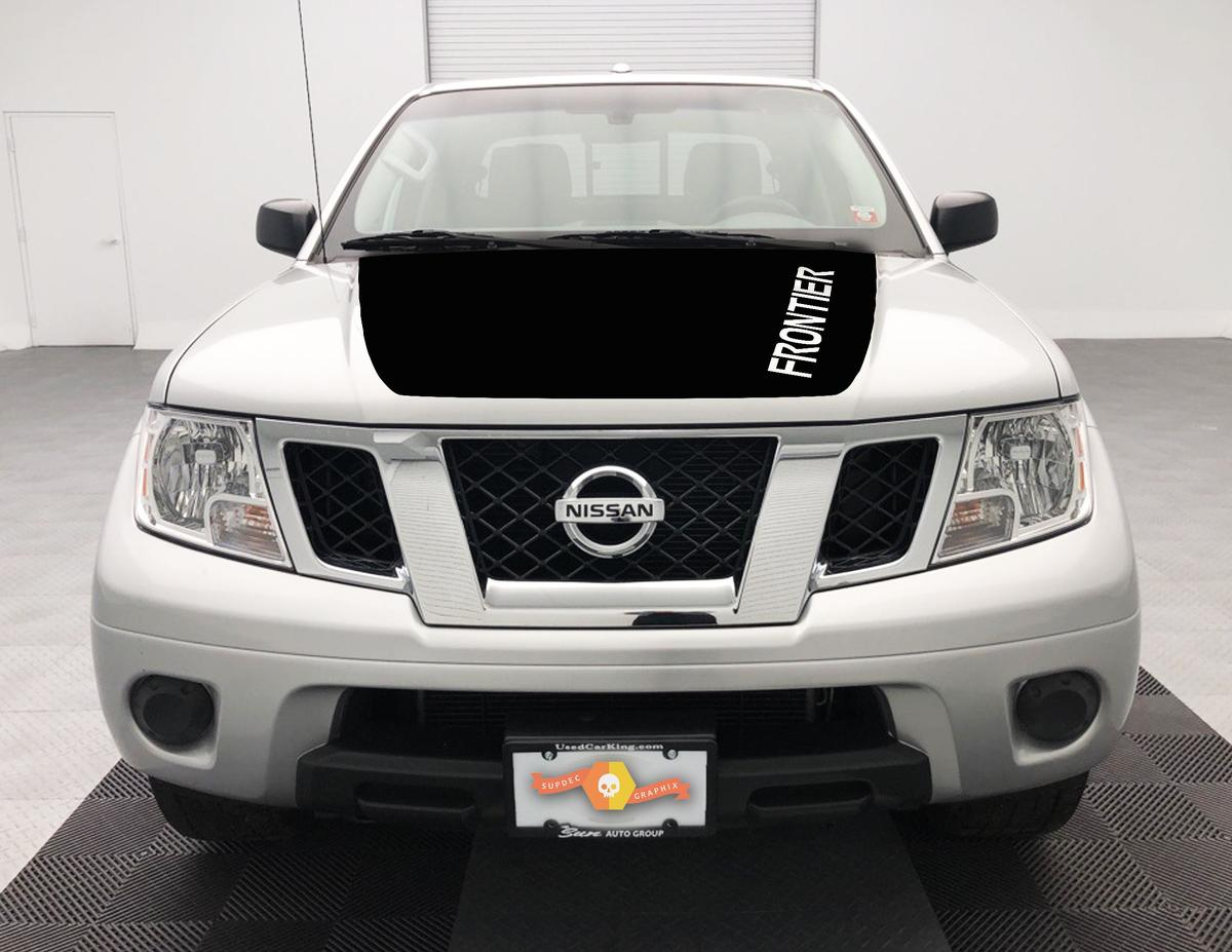 NISSAN Frontier HOOD Wrap Fits 2005-2018 GRAPHIC BLACKOUT