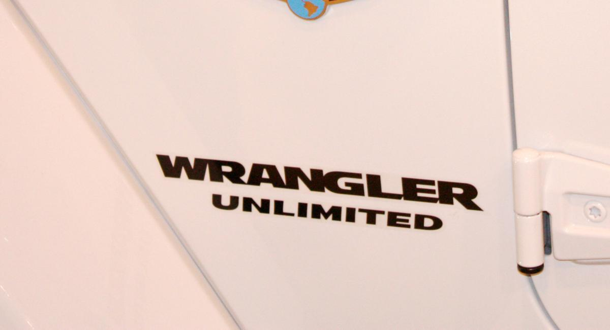 2 Wrangler Unlimited CJ TJ YK JK XJ All Colors Sticker Decal