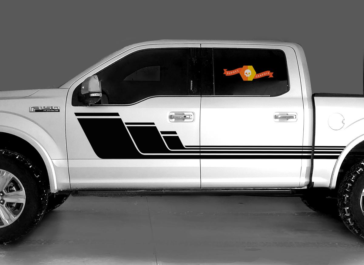 Ford F-150 2015-2018 2019 2020 mk13 Grafik Seitenstreifen Aufkleber Modell 1