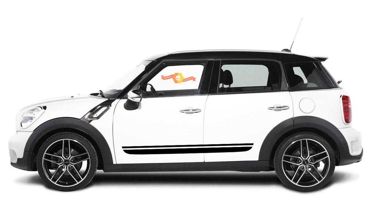 Mini Cooper Countryman F60 JCW 2017-2018 side stripe graphics decal
