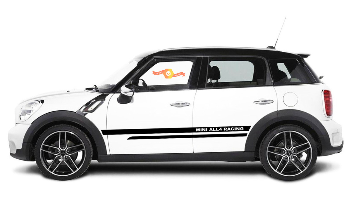 MINI Countryman R60 side stripe MINI ALL4 Racing style decal graphic