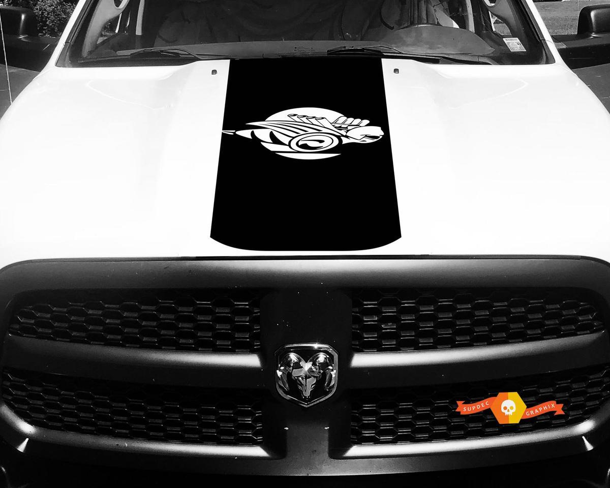 Dodge Ram 1500 2500 3500 Vinyl Rennstreifen Rumble Bee Hemi Hood Aufkleber Aufkleber # 6