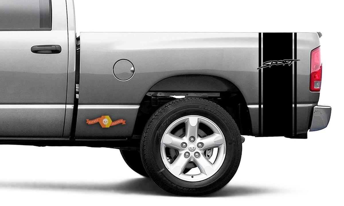 Dodge Ram Vinyl Rennbett Seitenstreifen Sport Aufkleber Aufkleber # 50