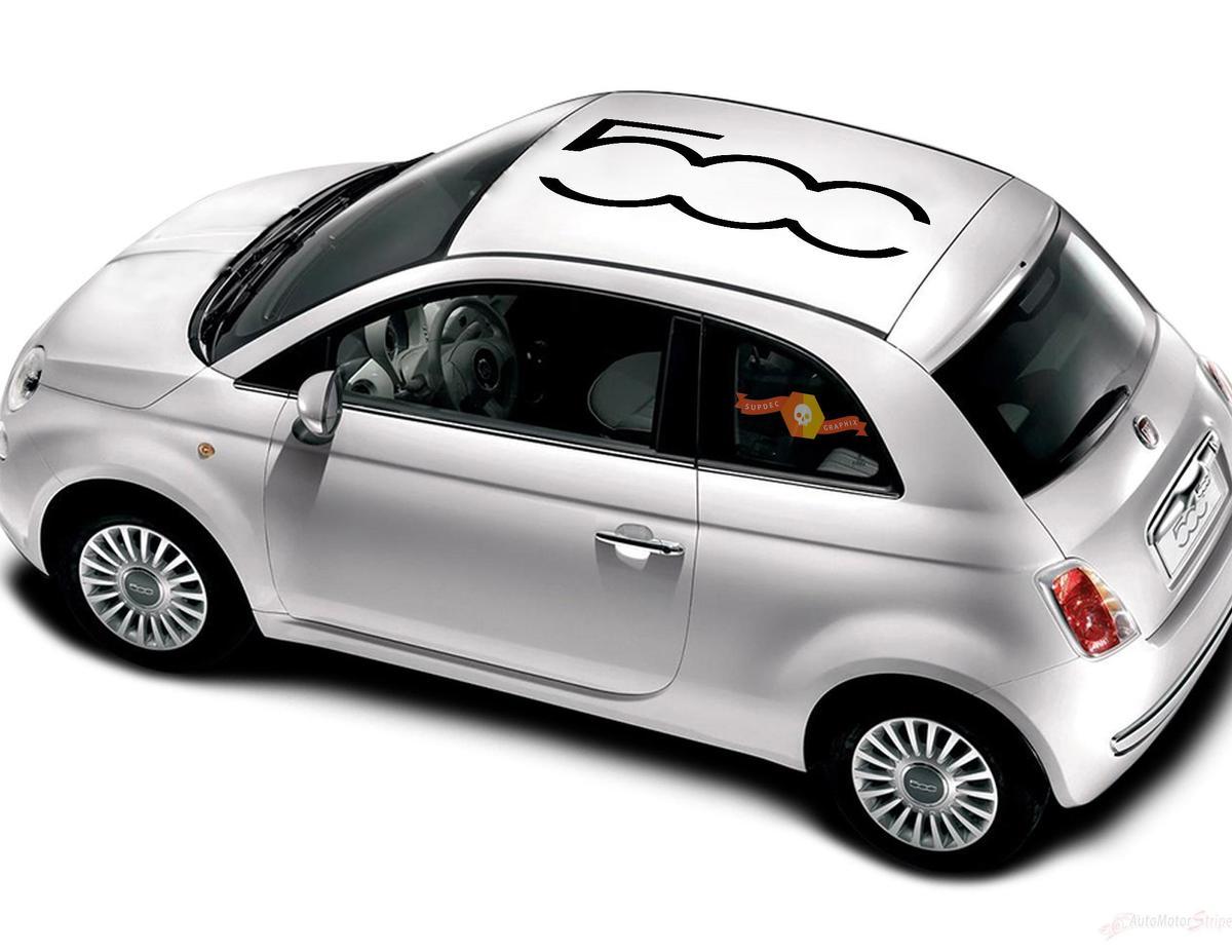 Fiat 500 Vinyl Racing 500 Logo Dachstreifen Aufkleber Aufkleber Vinyl Aufkleber