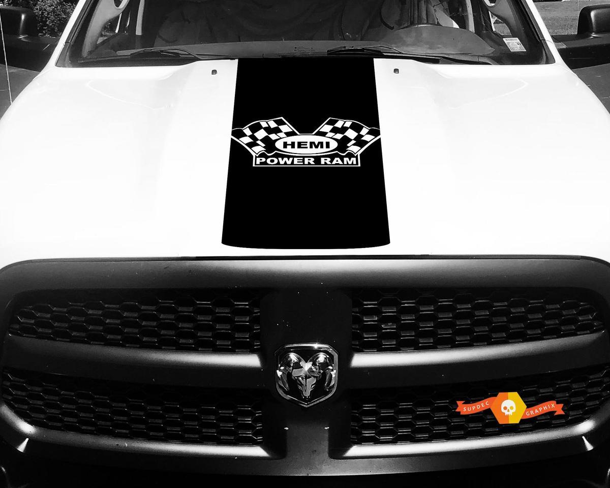 Dodge Ram Aufkleber Vinyl Karierte Flagge Hemi Power Ram Hood Racing Streifen Aufkleber # 61