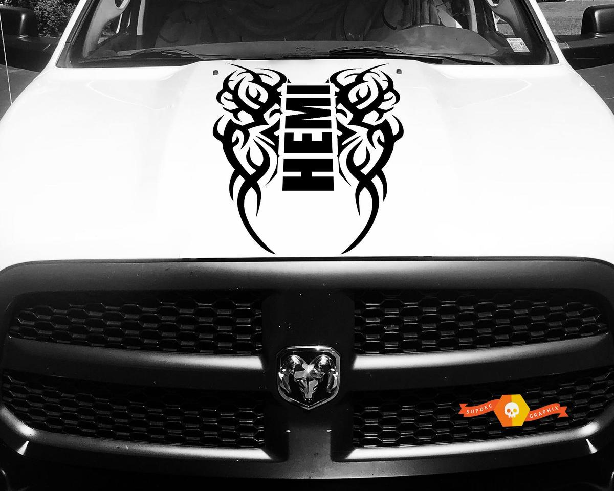 Dodge Ram Vinyl Haube Aufkleber Tribal Aufkleber Tattoo Hemi Racing Stripe 4x4 # 64