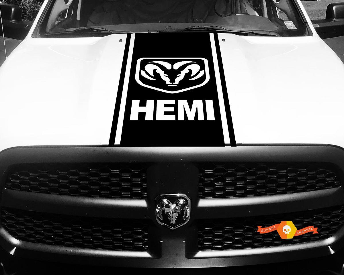 1500 2500 3500 Truck Vinyl Racing Aufkleber Streifen Hemi Ram Dodge Hood Aufkleber # 75