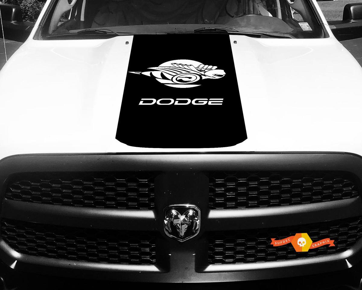 1500 2500 3500 LKW Vinyl Rennstreifen Dodge Ram Bee Hood Aufkleber Aufkleber # 80