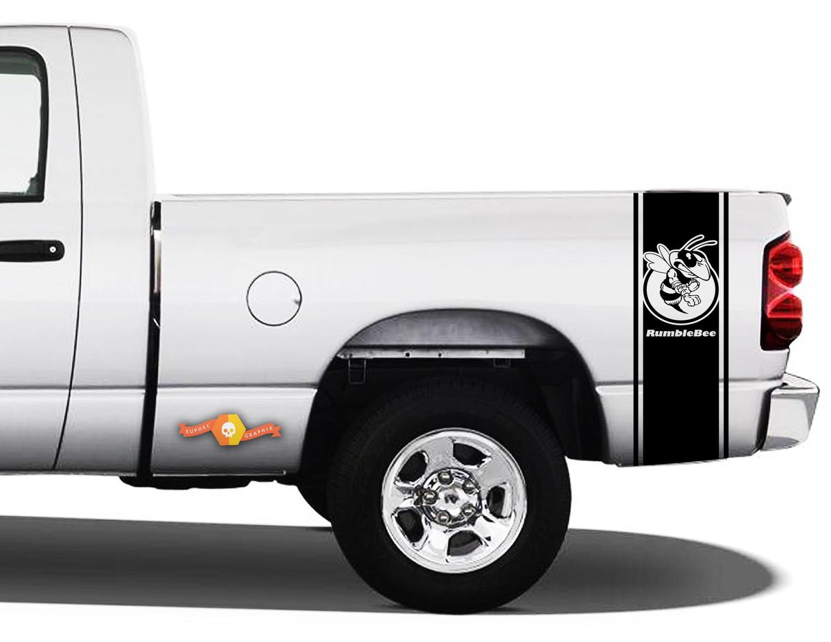 Product Dodge Ram 1500 Vinyl Decal Bed Side Stripe Racing Sticker Ram Rumble Bee Hemi 107