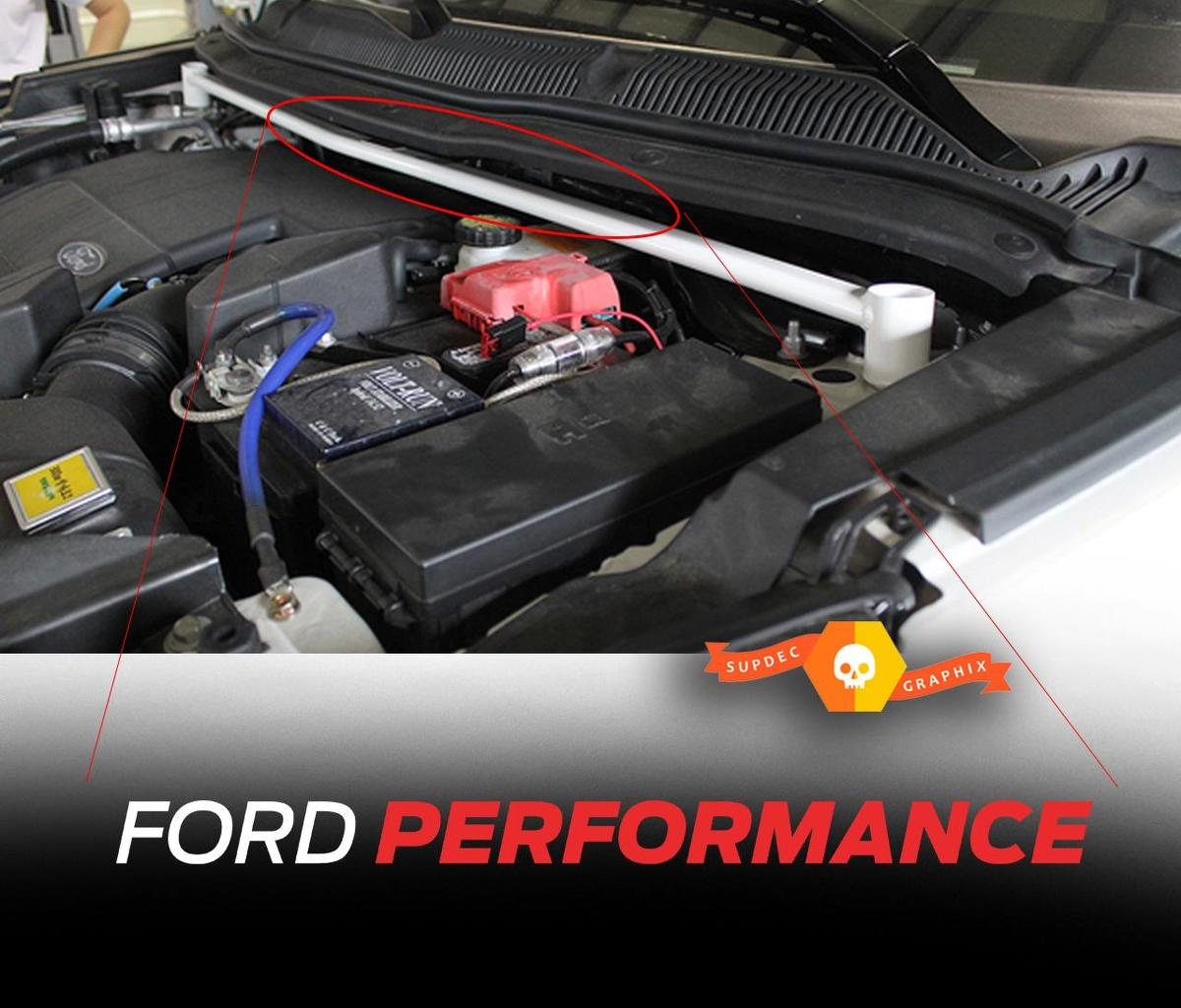 FORD Performance Under Hood Strut Brace Decal Sticker 2 colors Vinyl Graphics