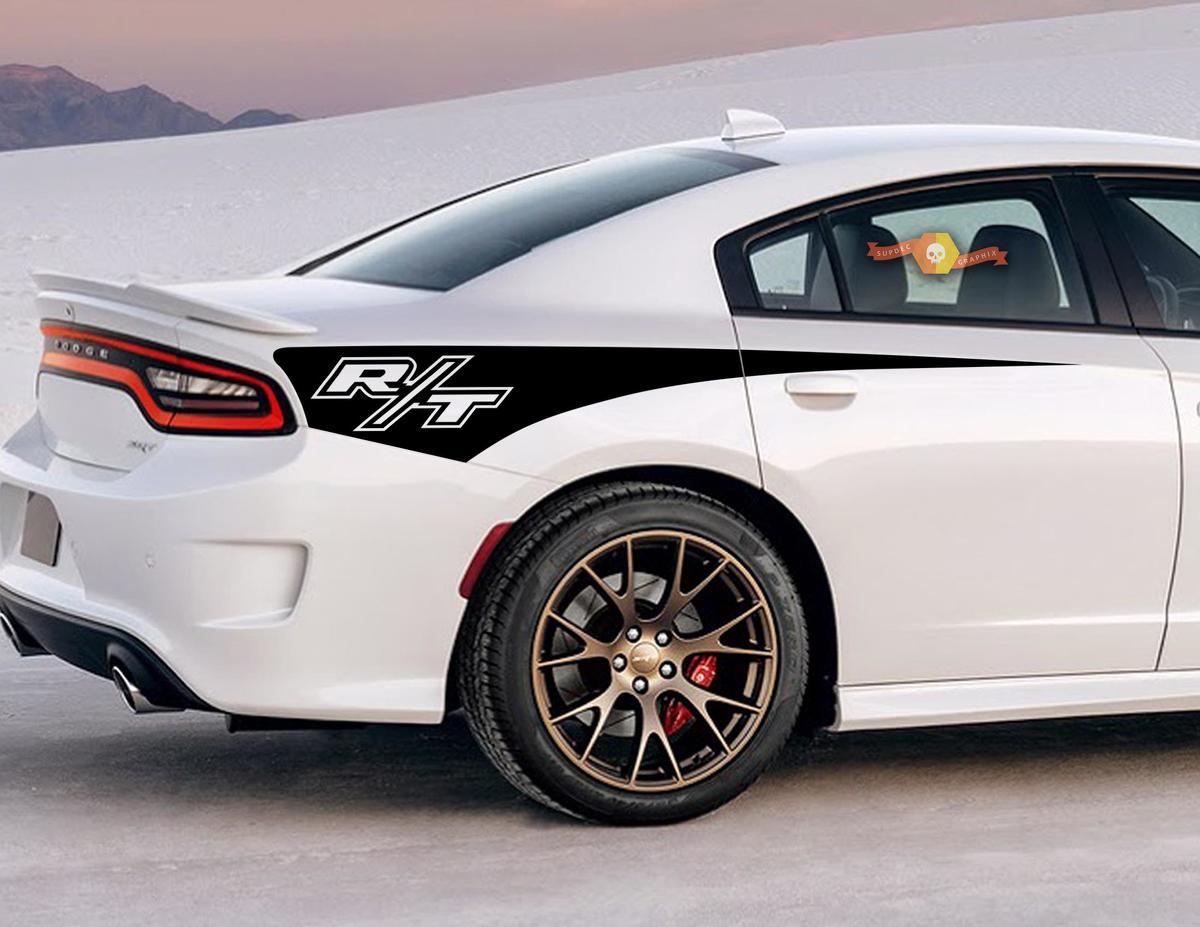2X Dodge Charger R / T Seitenstreifen-Aufkleber für das hintere Viertel 2011-2020