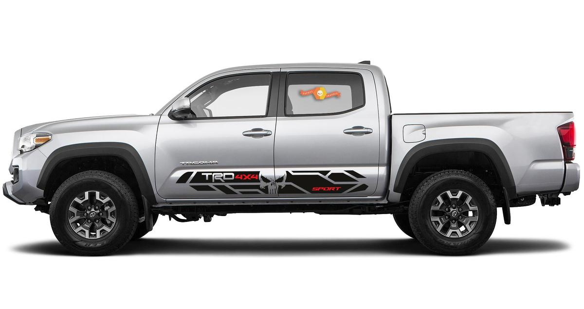 2020 - 2016 Toyota Tacoma TRD PRO RD Seitenstreifen Aufkleber Grafiken Vinyl Sport