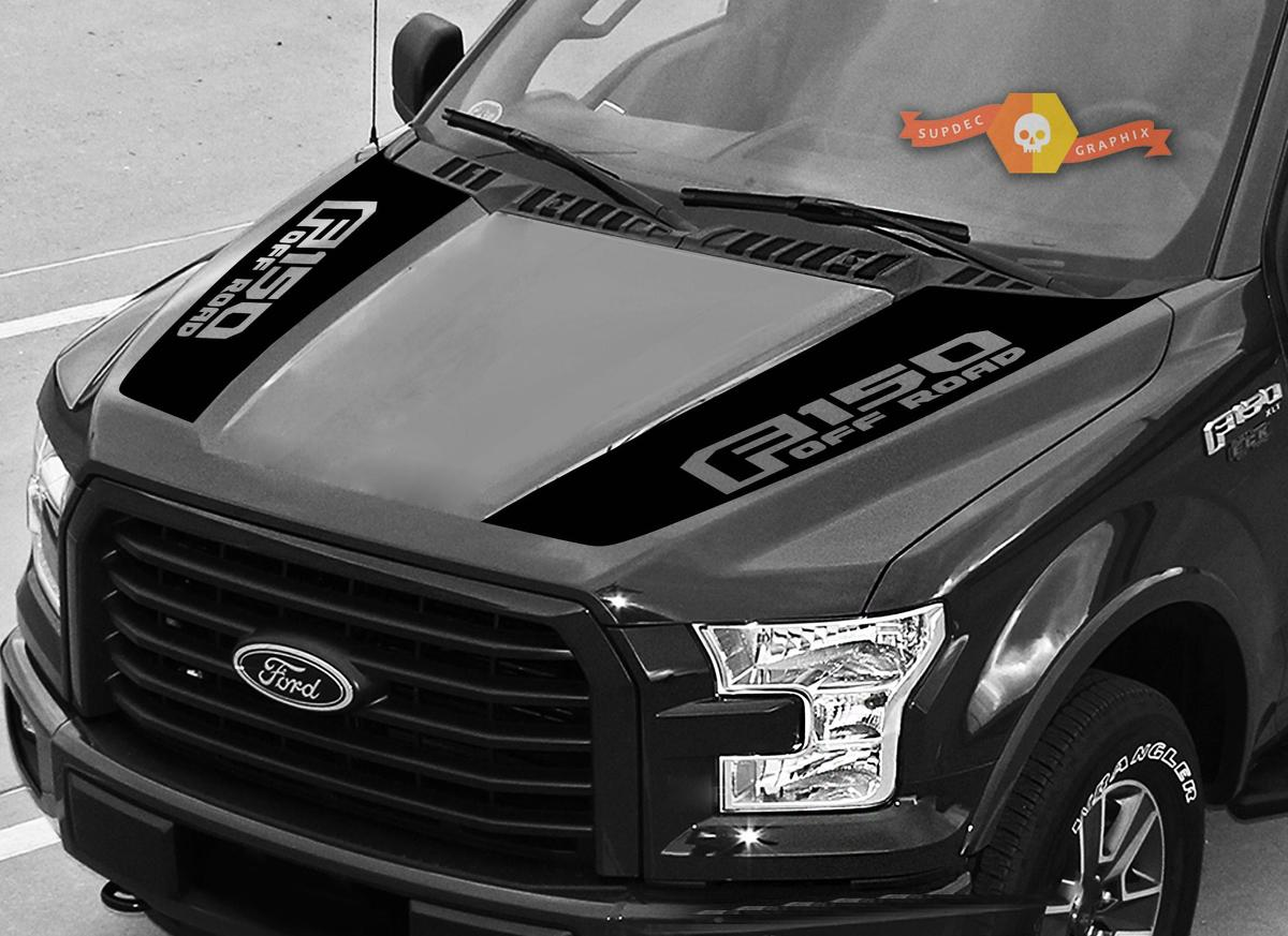 FORD F-150 Raptor Hood Graphics 2015-2019 Ford Racing Stripe Decals