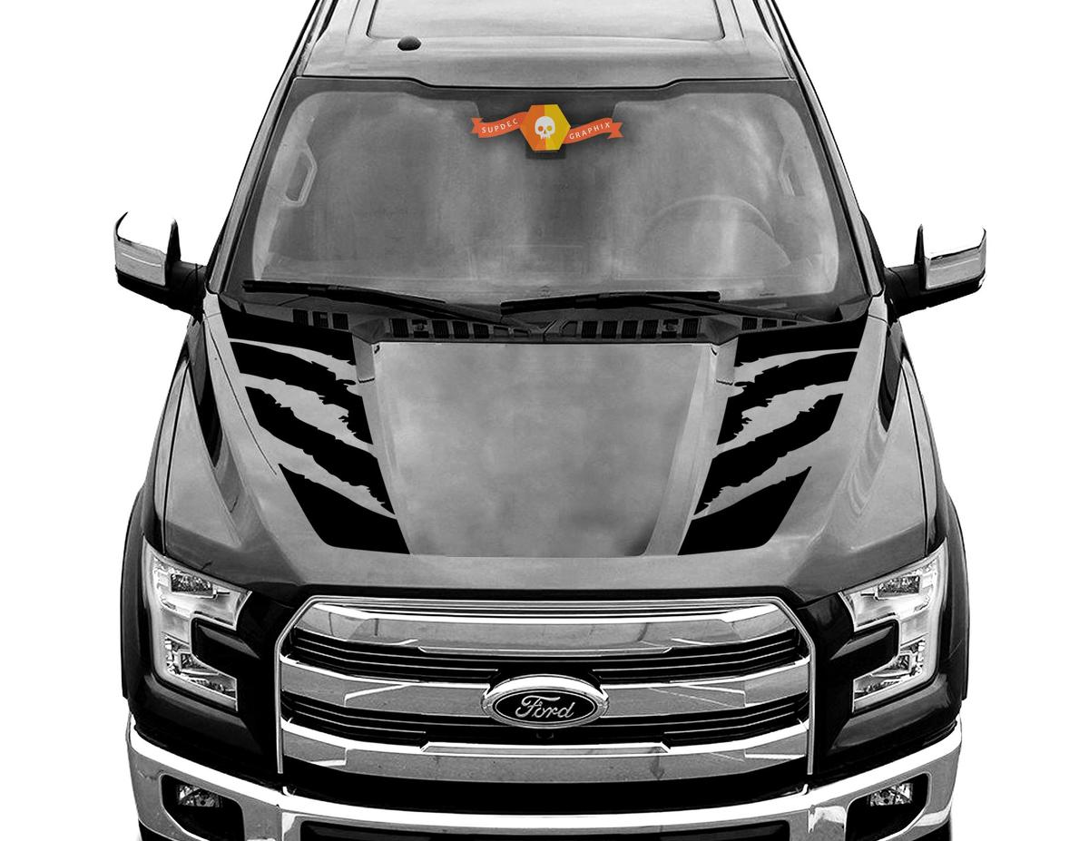 FORD F-150 Raptor Hood Graphics 2015 2019 Ford Racing Stripe Decals - 2
