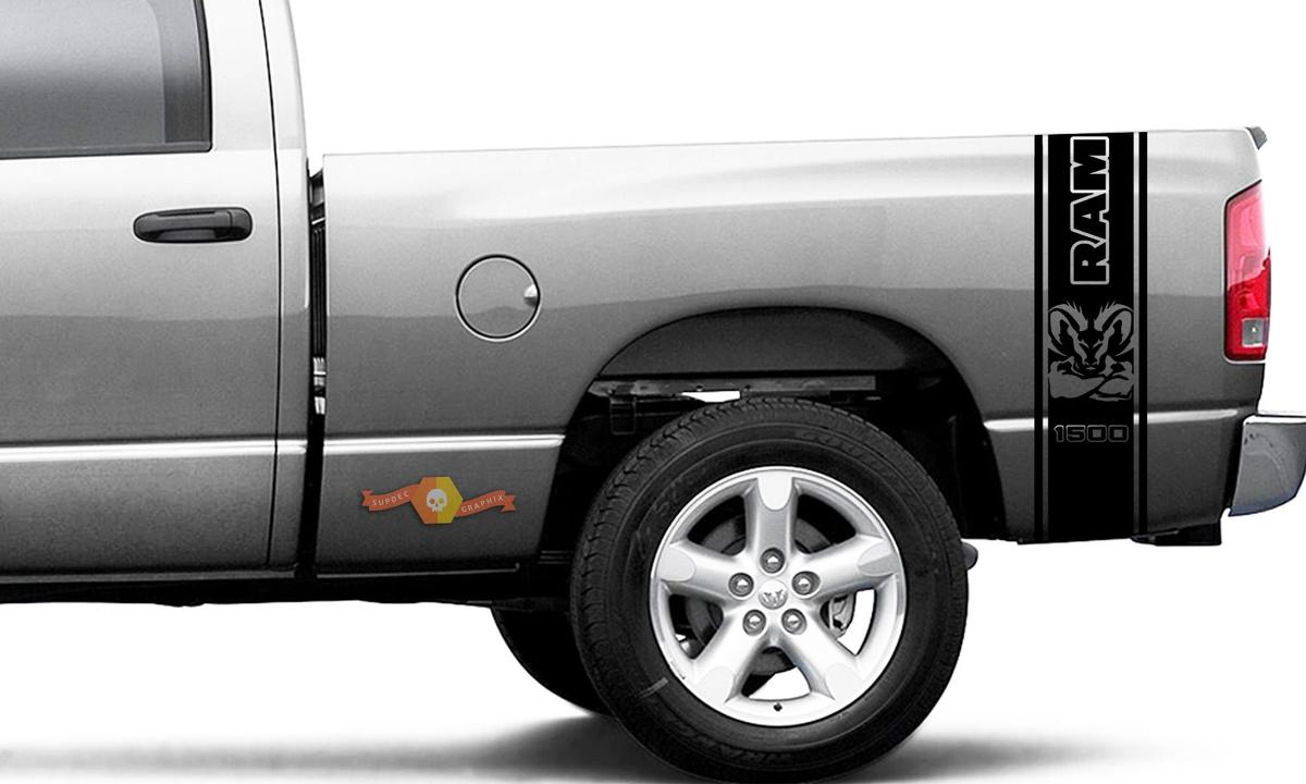 Dodge Ram 1500 Decal Ram Strong Sticker Vinyl Graphic Truck Bed Side Stripes