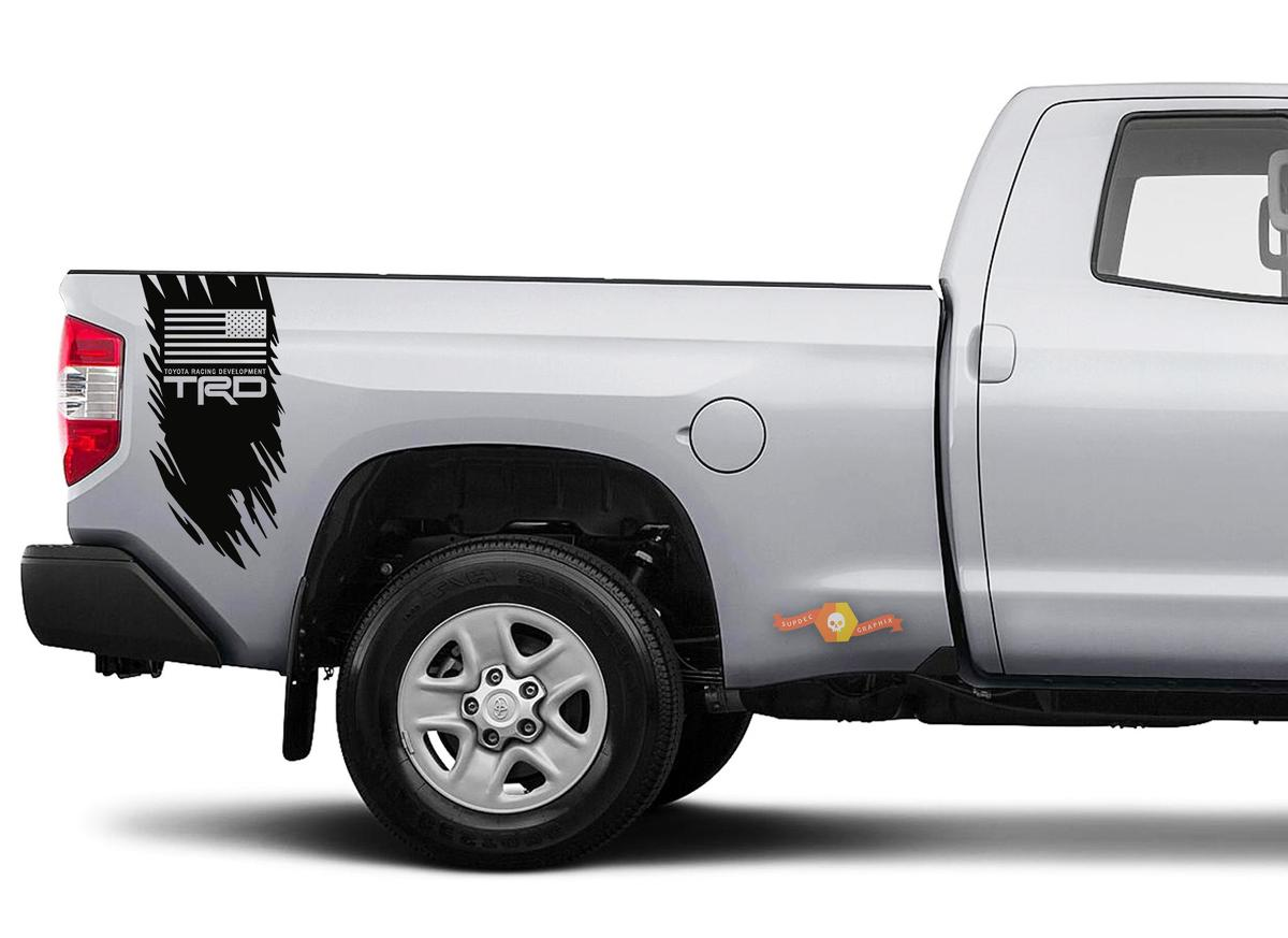 Toyota Tundra Tacoma TRD USA Flag Decal Sticker Vinyl Graphic Truck Bed Side Stripes