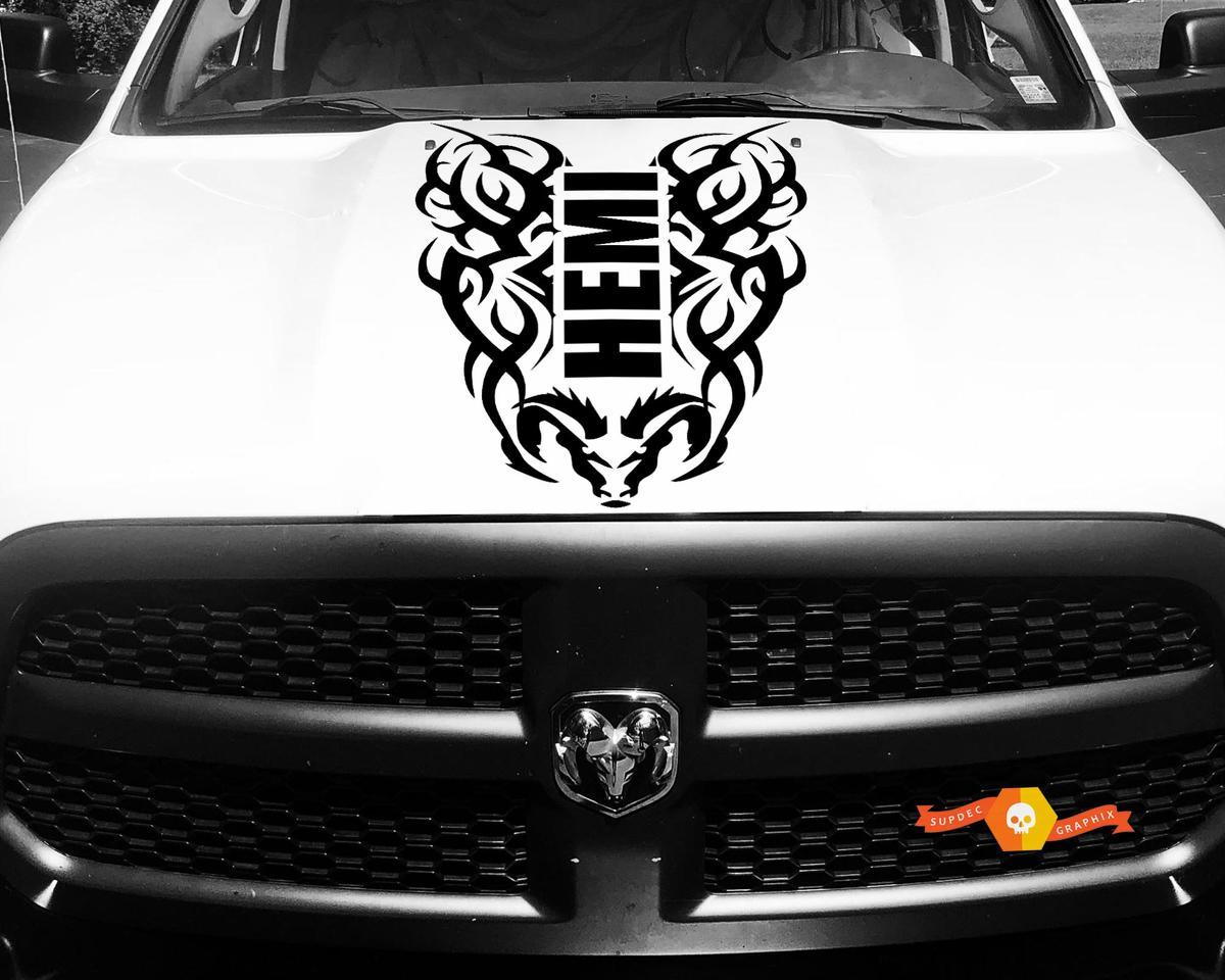 Hood Decal Tribal Vinyl Streifen für Dodge Ram 1500 Hemi Racing Aufkleber 4x4