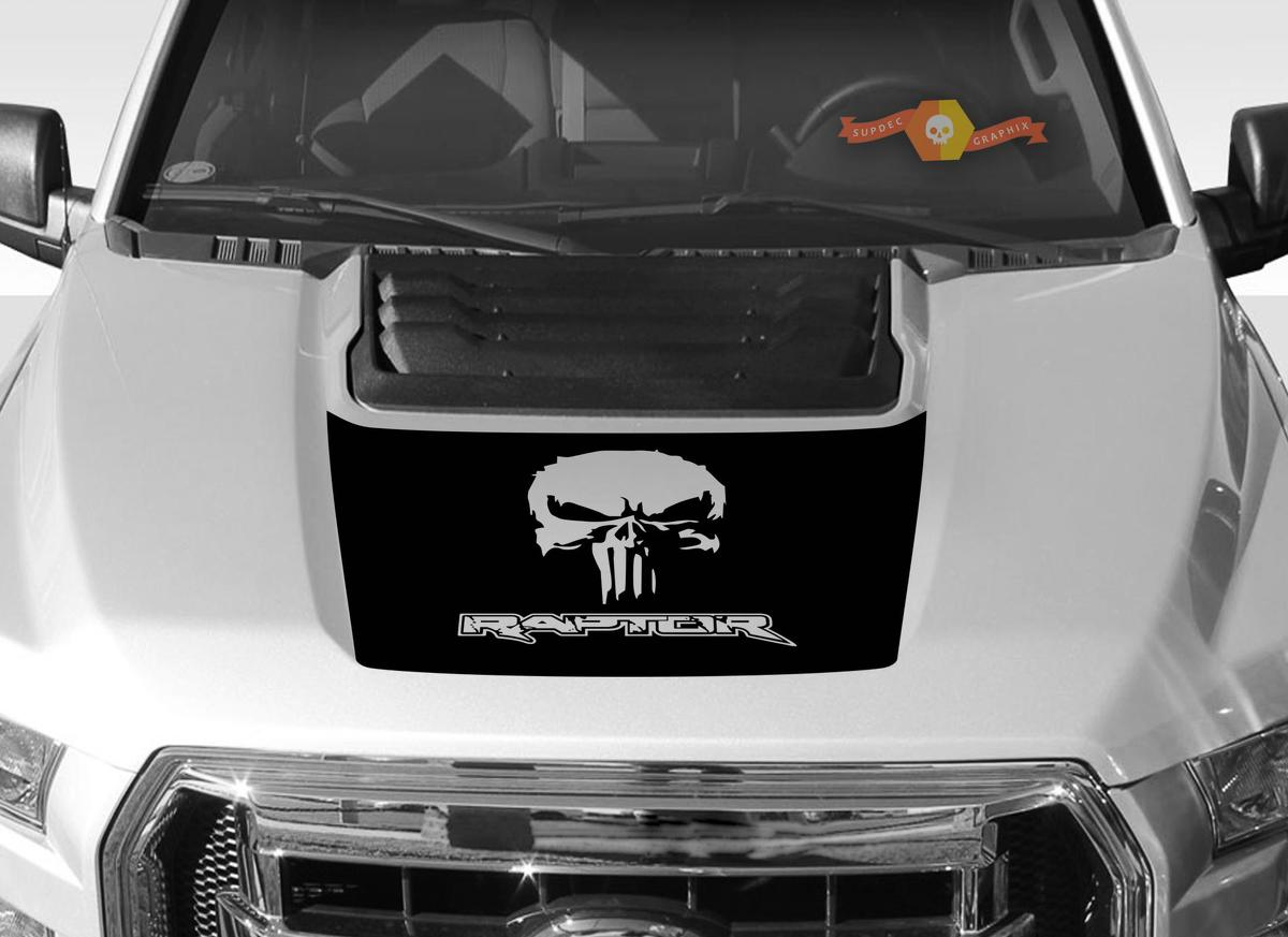 FORD F-150 Raptor Punisher SVT Hood Graphics 2015-2019 - Ford Racing Stripe Decals