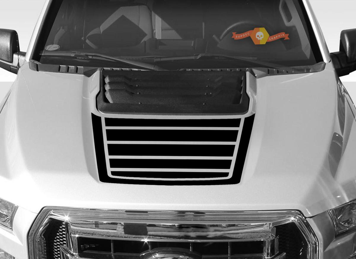 FORD F-150 Raptor SVT Hood Graphics 2015-2019 - Ford Racing Stripe Decals - 3