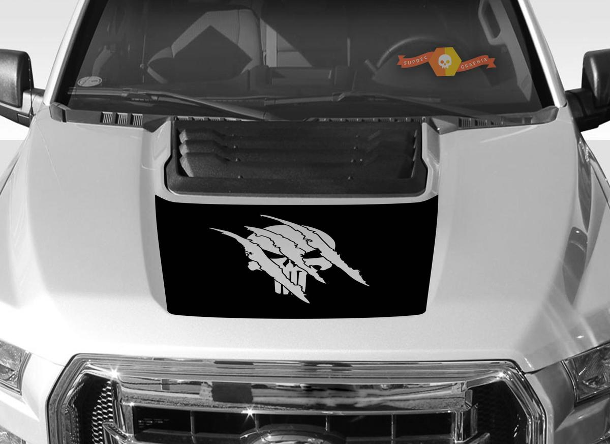 FORD F-150 Raptor Punisher SVT Hood Graphics 2015-2019 - Ford Racing Stripe Decals - 2