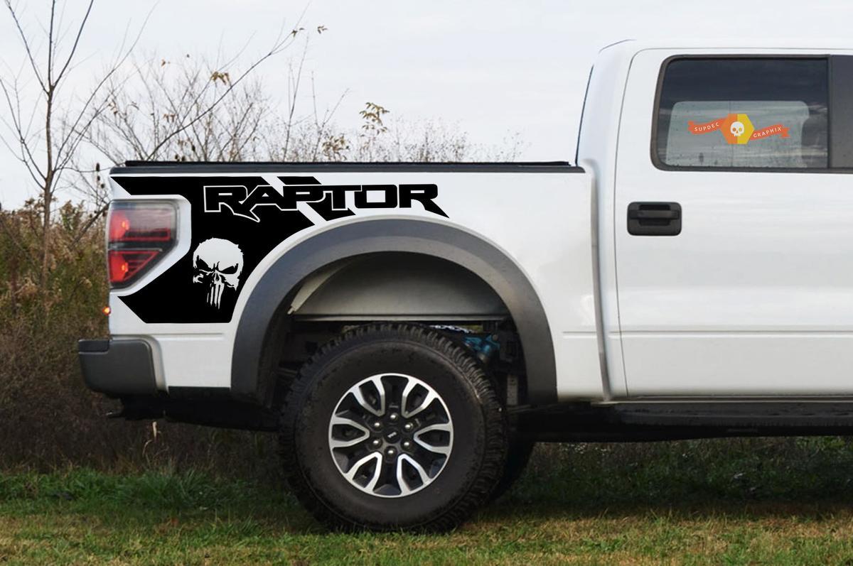 Ford Raptor Punisher Grafiken am Bett - 2010-2014 Raptor Decals - Raptor Aufkleber