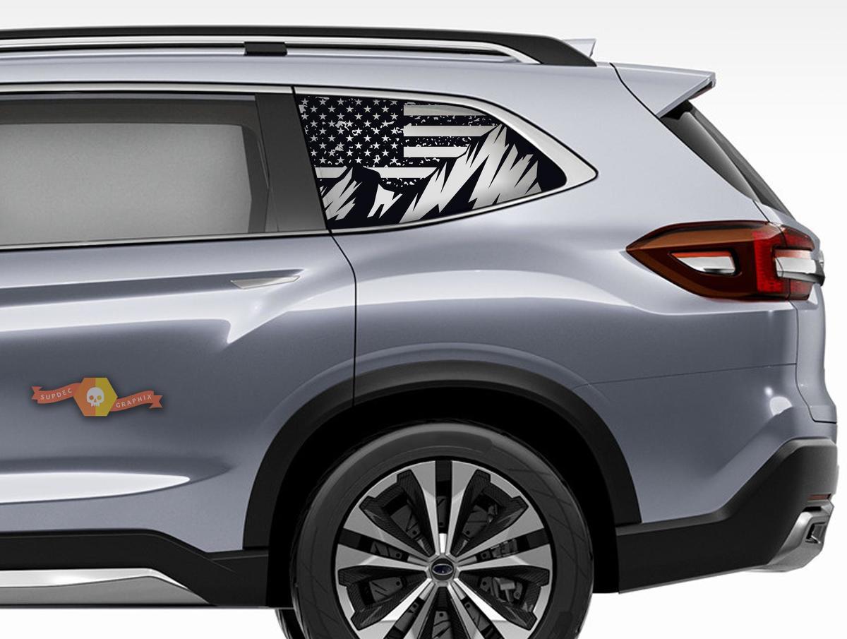 Subaru Ascent Forester Hardtop USA Flagge Berge Windschutzscheibe Aufkleber JKU JLU 2007-2019 oder Tacoma 4Runner Tundra Dodge Challenger Ladegerät Wrangler Rubicon - 102