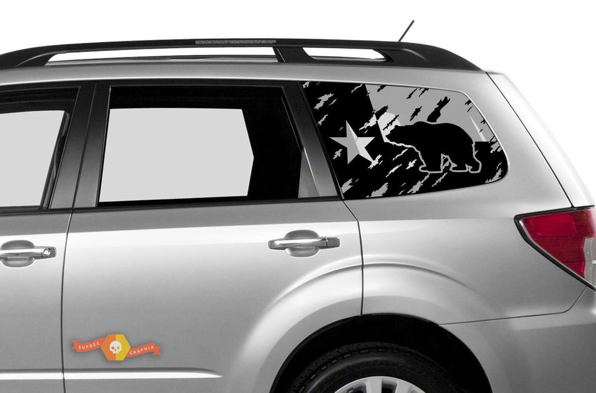 Subaru Ascent Forester Hardtop Flagge Texas Mountains Bär zerstört Windschutzscheibe Aufkleber JKU JLU 2007-2019 oder Tacoma 4Runner Tundra Dodge Challenger Ladegerät Wrangler Rubicon - 110