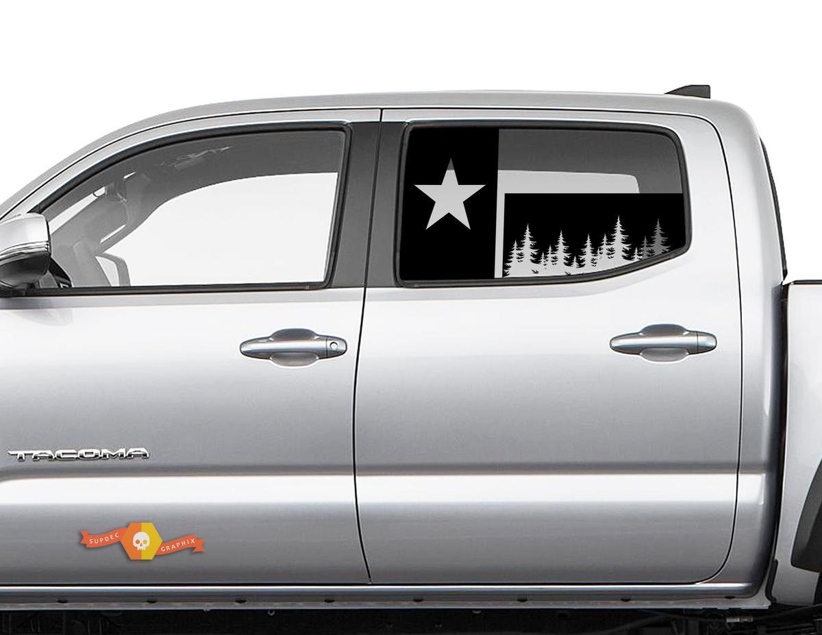 Toyota Tacoma 4Runner Tundra Hardtop Flagge Texas Forest Windschutzscheibe Aufkleber JKU JLU 2007-2019 oder Dodge Challenger Ladegerät Subaru Ascent Forester Wrangler Rubicon - 127