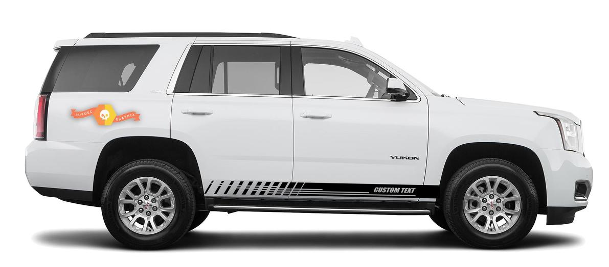 Racing rocker panel stripes vinyl decals stickers for GMC Yukon