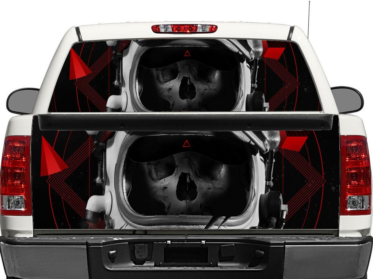 Skull Cosmonaut Rear Window OR tailgate Decal Sticker Pick-up Truck SUV Car